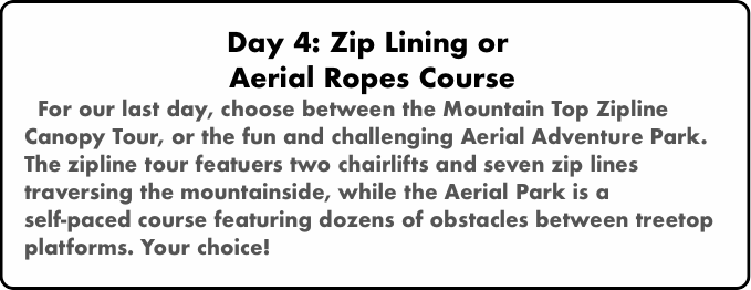 Day 4: Zip Lining or 